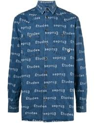 Camisa vaquera estampada azul de Études