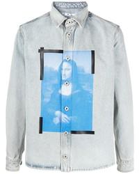 Camisa vaquera estampada celeste de Off-White