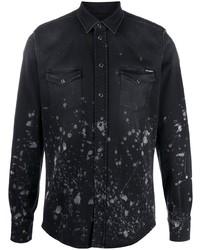 Camisa vaquera estampada negra de Dolce & Gabbana