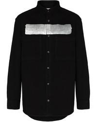 Camisa vaquera estampada negra de Givenchy
