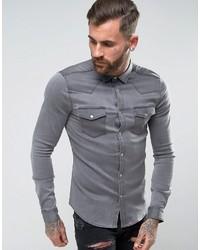 Camisa vaquera gris de Asos