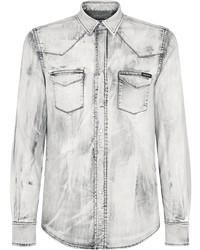Camisa vaquera gris de Dolce & Gabbana