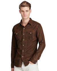 Camisa vaquera marrón
