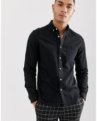 Camisa vaquera negra de ASOS DESIGN
