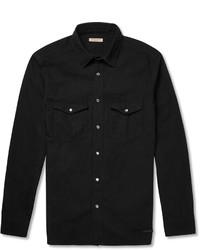 Camisa vaquera negra de Burberry