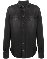 Camisa vaquera negra de Dolce & Gabbana