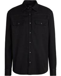 Camisa vaquera negra de Ermenegildo Zegna
