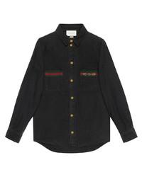 Camisa vaquera negra de Gucci