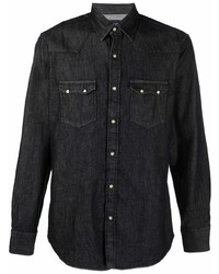 Camisa vaquera negra de Lardini