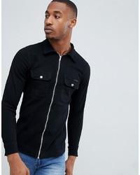 Camisa vaquera negra de Liquor N Poker
