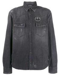 Camisa vaquera negra de Neil Barrett