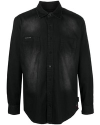 Camisa vaquera negra de Philipp Plein