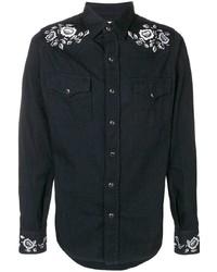Camisa vaquera negra de Saint Laurent