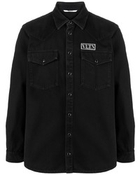 Camisa vaquera negra de Valentino