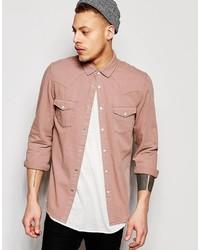 Camisa vaquera rosada