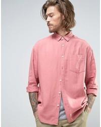 Camisa vaquera rosada de Asos