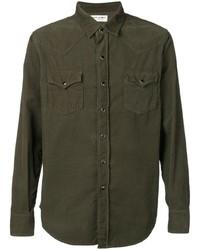 Camisa vaquera verde oliva de Saint Laurent