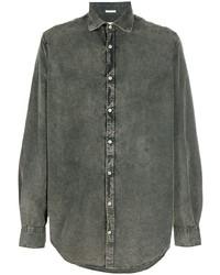 Camisa vaquera verde oscuro de Massimo Alba