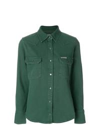 Camisa vaquera verde de Calvin Klein Jeans