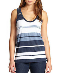 Camiseta Azul Marino y Blanca