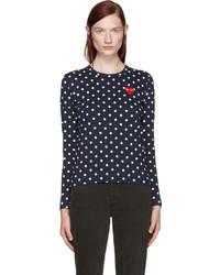 Camiseta azul marino de Comme des Garcons