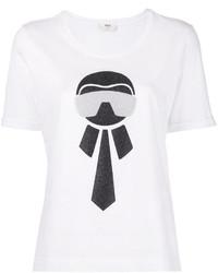 Camiseta Blanca de Fendi