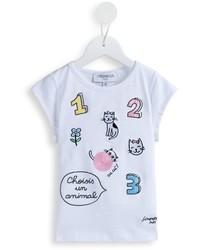 Camiseta bordada blanca de Simonetta