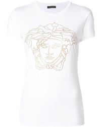Camiseta con adornos blanca de Versace