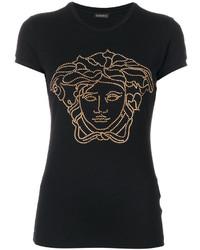 Camiseta con adornos negra de Versace