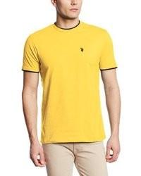 Camiseta con cuello circular amarilla