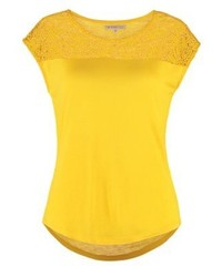 Camiseta con cuello circular amarilla de Anna Field