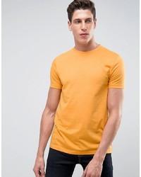 Camiseta con cuello circular amarilla de Asos
