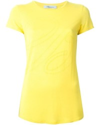 Camiseta con cuello circular amarilla de Blumarine