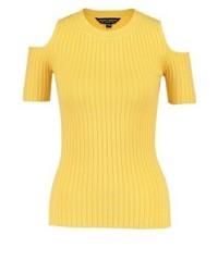 Camiseta con cuello circular amarilla de Dorothy Perkins