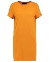 Camiseta con cuello circular amarilla de Even&Odd