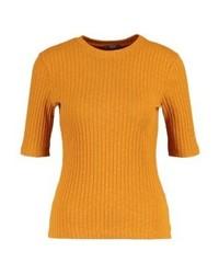 Camiseta con cuello circular amarilla de KIOMI