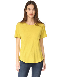 Camiseta con cuello circular amarilla de Madewell