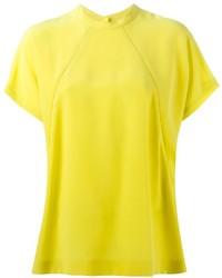 Camiseta con cuello circular amarilla de Maison Margiela