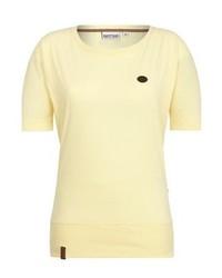 Camiseta con cuello circular amarilla de Naketano