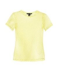Camiseta con cuello circular amarilla de New Look