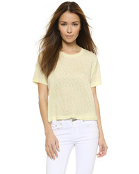 Camiseta con cuello circular amarilla de Rag and Bone