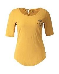 Camiseta con cuello circular amarilla de Roxy