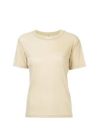 Camiseta con cuello circular amarilla de Song For The Mute