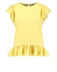 Camiseta con cuello circular amarilla de Sonia Rykiel