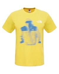 Camiseta con cuello circular amarilla de The North Face