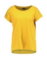 Camiseta con cuello circular amarilla de Vila