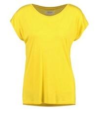Camiseta con cuello circular amarilla de Zalando Essentials