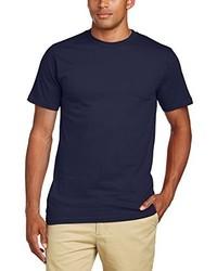 Camiseta con cuello circular azul marino de Anvil