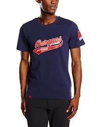 Camiseta con cuello circular azul marino de Bergans