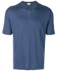 Camiseta con cuello circular azul marino de Brioni